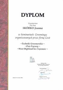 Trymowanie dyplom